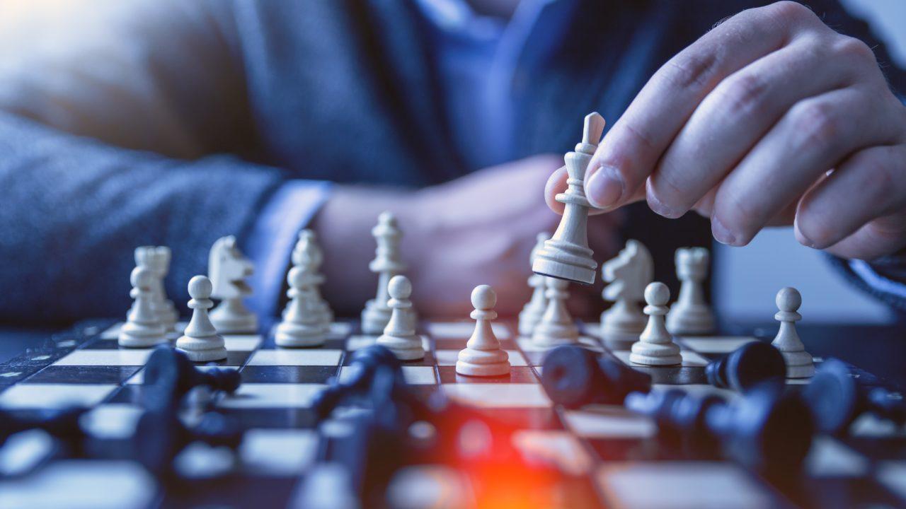 計画的にチェスをやっているところ